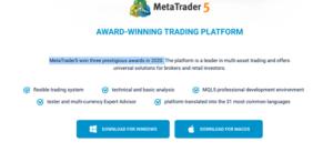 Award winning trading platform