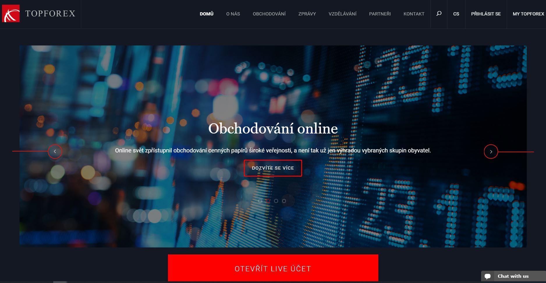Webové stránky brokera brokera TopForex