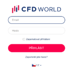 CFDworld Přihlášení k platformě