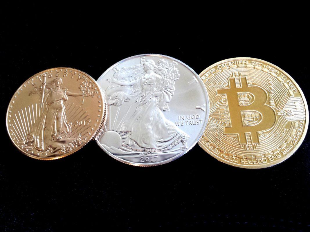 bitcoin-zlato, mince