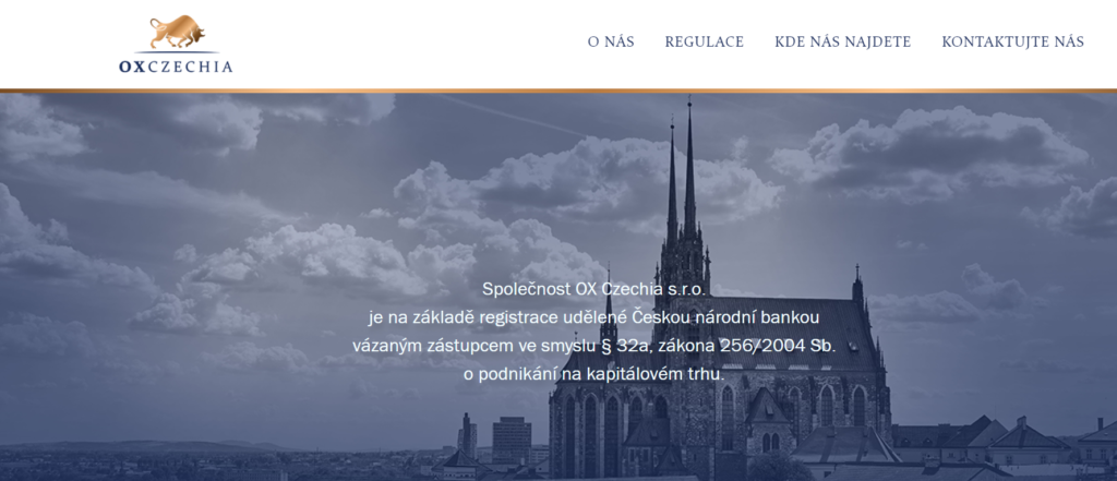 Webová stránka OX Czechia