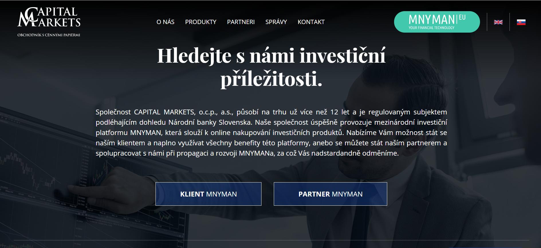 Web společnosti Capital Markets