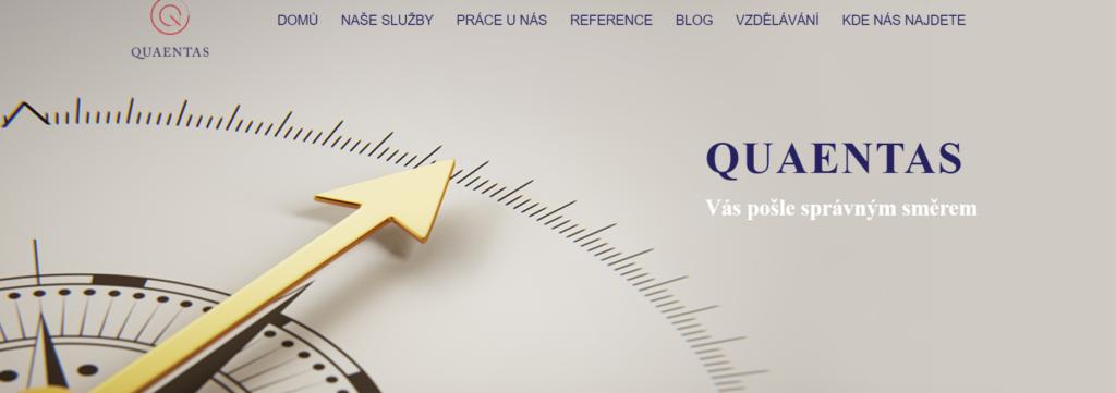 Webové stránky společnosti Quaentas
