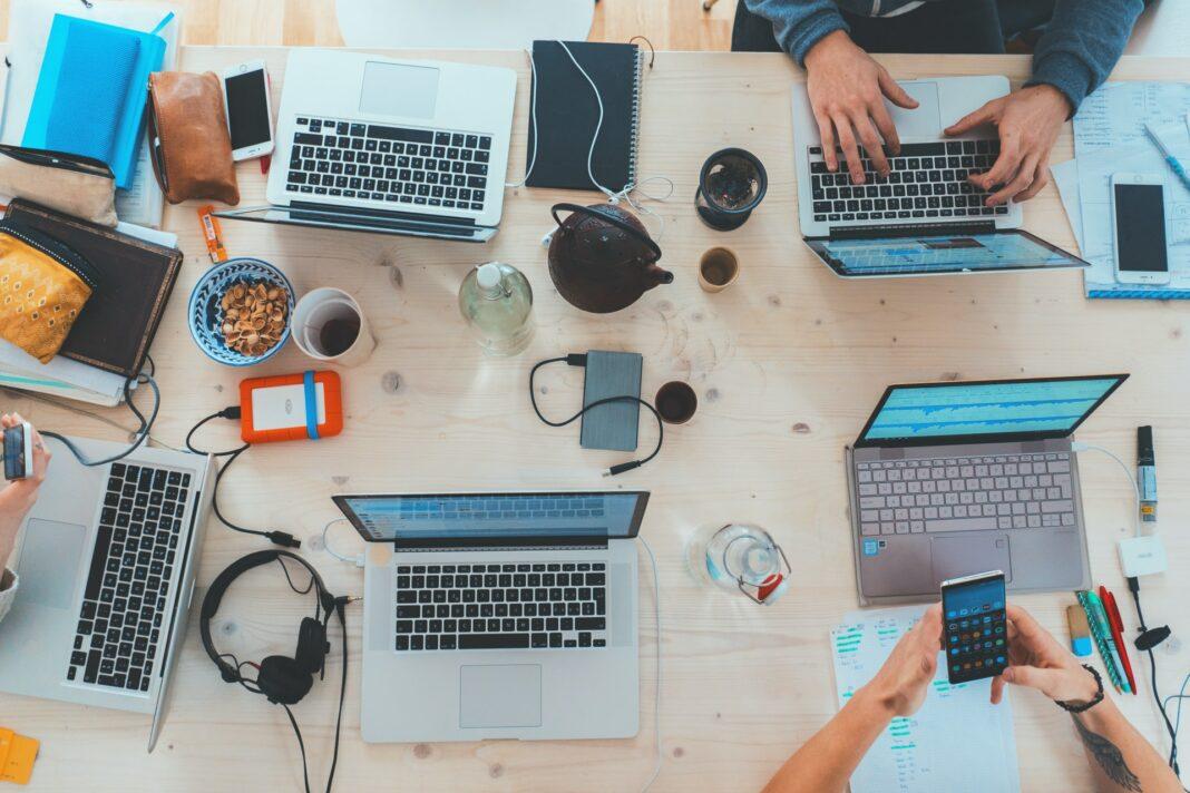 technologie, práce, business, team, tým, týmová práce, organizace, pc, počítač