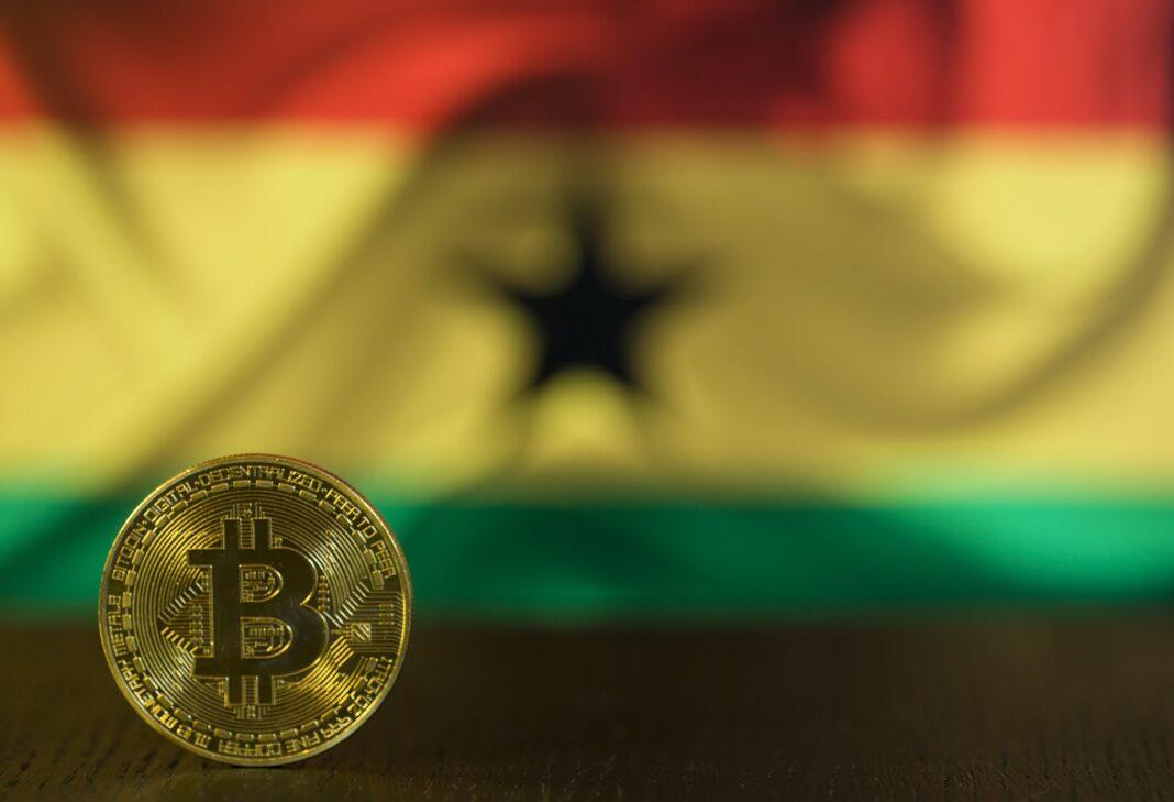 ghana, vlajka, kryptoměna, bitcoin